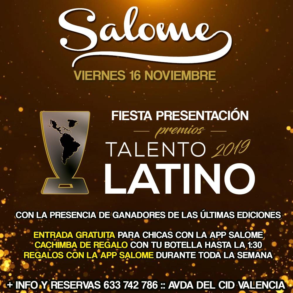 Viernes 16 Fiesta Presentación Premios Talento Latino 2019